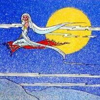 Girl on a Flying Carpet