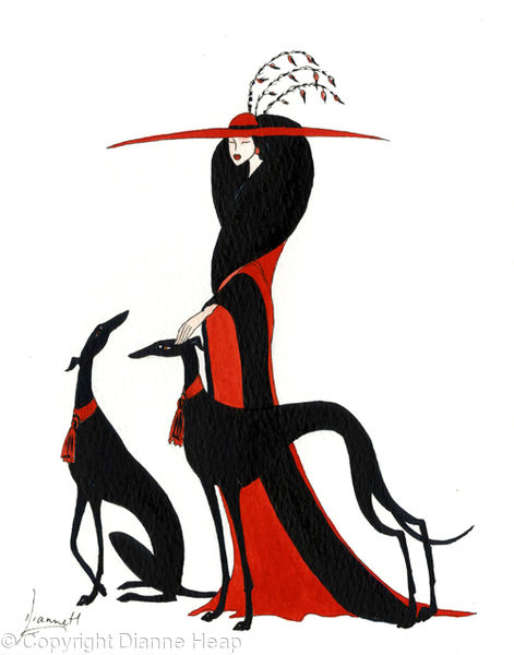 Good Company  No.5881 Print Greyhound Lady in Red