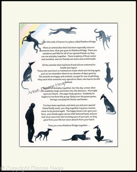 Rainbow Bridge Poem No.7033 Man Dog