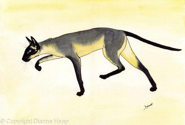 Stalking Cat No.3483 Siamese