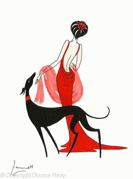 In Red No.5067 Lady Greyhound