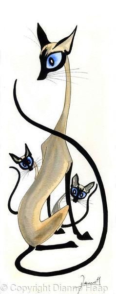 MOTHER No.2858 Cat / Kittens print