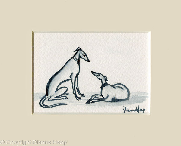 Friends ACEO 7154 Greyhound / Whippet Dog
