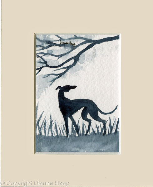 Freedom ACEO 7155 Greyhound / Whippet / Dog
