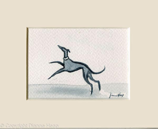 Happy Hound ACEO 7169 Greyhound / Dog / Whippet
