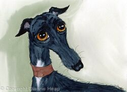 WANT A HUG  No.6781 Original Dog Art
