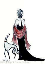 SOPHISTICATION No.6857 Original Greyhound / Woman