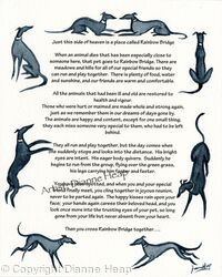 CONDOLENCE POEM No.7032 Greyhound Whippet