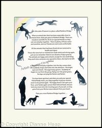 Rainbow Bridge Poem No.7033 Man Dog
