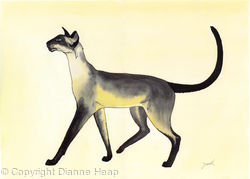 Strutting No.3491 Siamese Cat