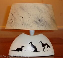Lamp No.7050 Greyhound Whippet Art
