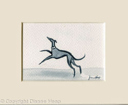 Happy Hound ACEO 7169 Greyhound / Dog / Whippet