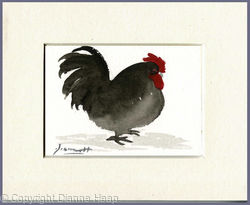 Breakfast Over 5209 ACEO Hen