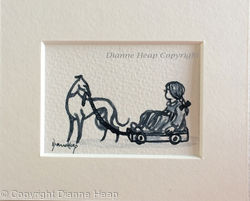 Playtime ACEO 7229 Dogs / Greyhound / Whippet / Child
