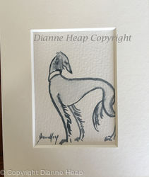 SALUKI ACEO 7236 DOG