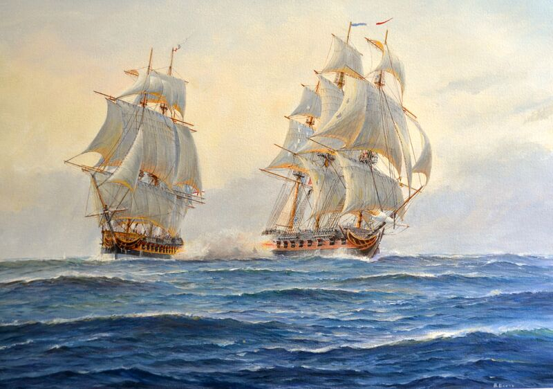 Naval Action between Frigates