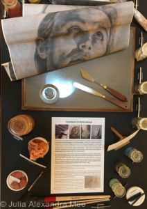 Scottish National Gallery - Artists At Work - Collective Exhibition 2018 - Julia Alexandra Mee - Selection of Fresco Pigments and Materials