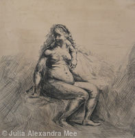 Seated Female Nude (dopo Rembrandt)