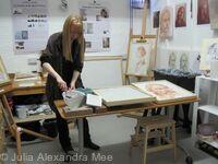 Friends of the Royal Scottish Academy Studio Visit, Demonstration of the Technique of Buon Fresco - Edinburgh, 2015