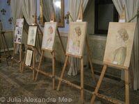 Demonstration Fresco Panels in the exhibition 'Omaggio della Donna' (Collective - Borgo degli Artisti, Casinò Municipale, Bagni di Lucca, Tuscany, Italy, 2013)