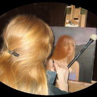 Painting the self-portrait in 2007