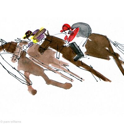 Ascot: 'It looks as if one horse lost it's rider!'