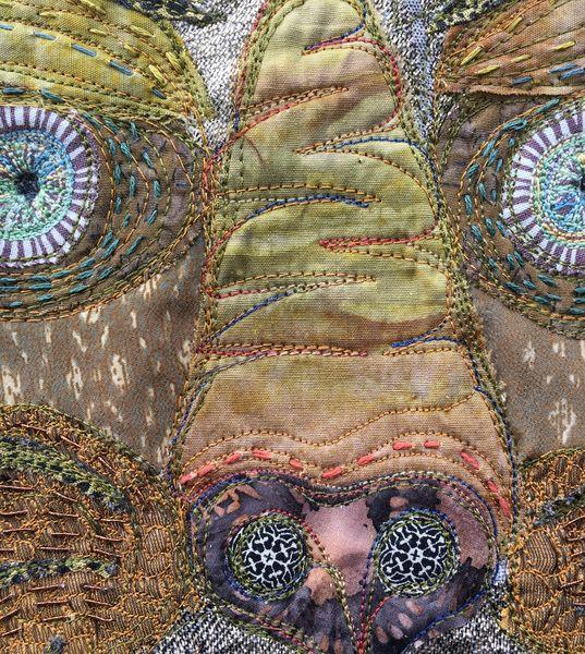 Textile mixed media artwork