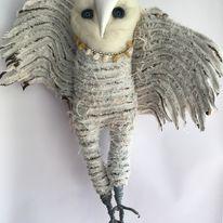 Miss Saoirse Meekypie Barn owl textile sculpture