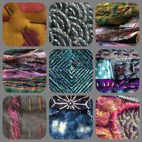 Textile mixed media artworks
