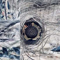 Textures in textiles hand stitch