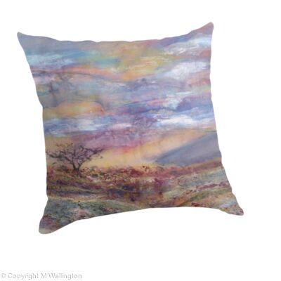 Large throw pillow Dartmoor Sunset