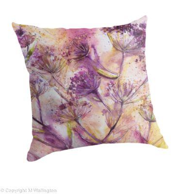 Large throw pillow Umbels II