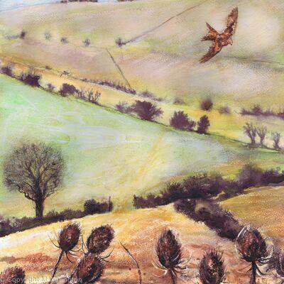 Ridgeway and red Kite