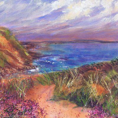 Purple Heathers by the Coastpath