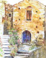 Old Building with Blue Door, Crete