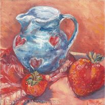 Strawberries and Handmade Jug