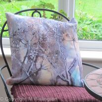 Large throw pillow Umbels I