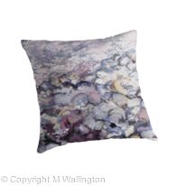 Medium throw pillow Beach pebbles