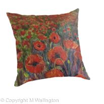 Large throw pillow Field of Poppies