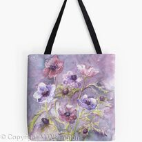 Tote bag Anemones in the Mist