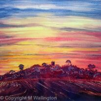 Sunset over the Folly