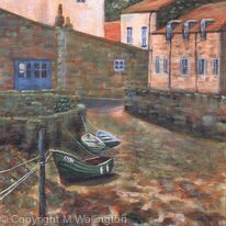 Boats in the Beck, Low Tide, Staithes