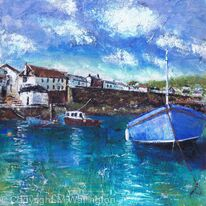 Boats in the Harbour, Coverack