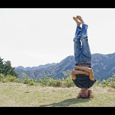 御岳 headstand