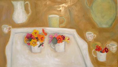 Tray, Three 'Love Mugs'