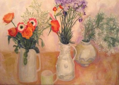 Pink Gerberas, Orange Roses