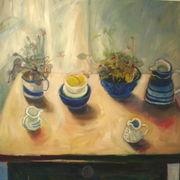 Blue bowls, cyclamen 1