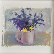Bluebells, pink jug