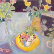 Yellow bowl,primulas