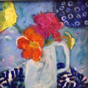 Geranium, nasturtium, poppy